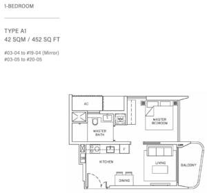coastline-residences-1-bedroom-floor-plan-a1-singapore