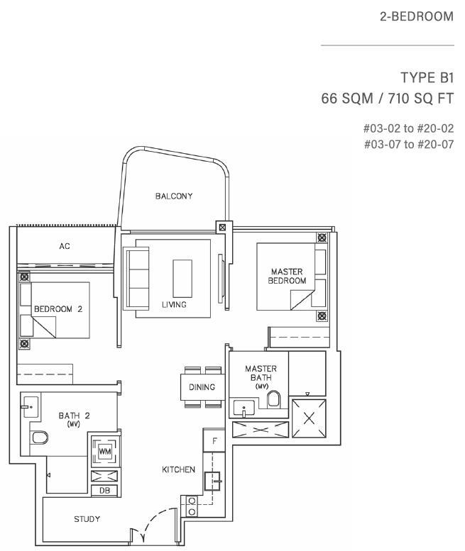 Coastline Residences Floor Plan 65 61001116 Singapore