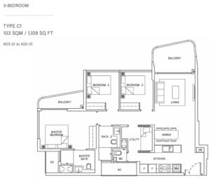 coastline-residences-3-bedroom-floor-plan-c1-singapore