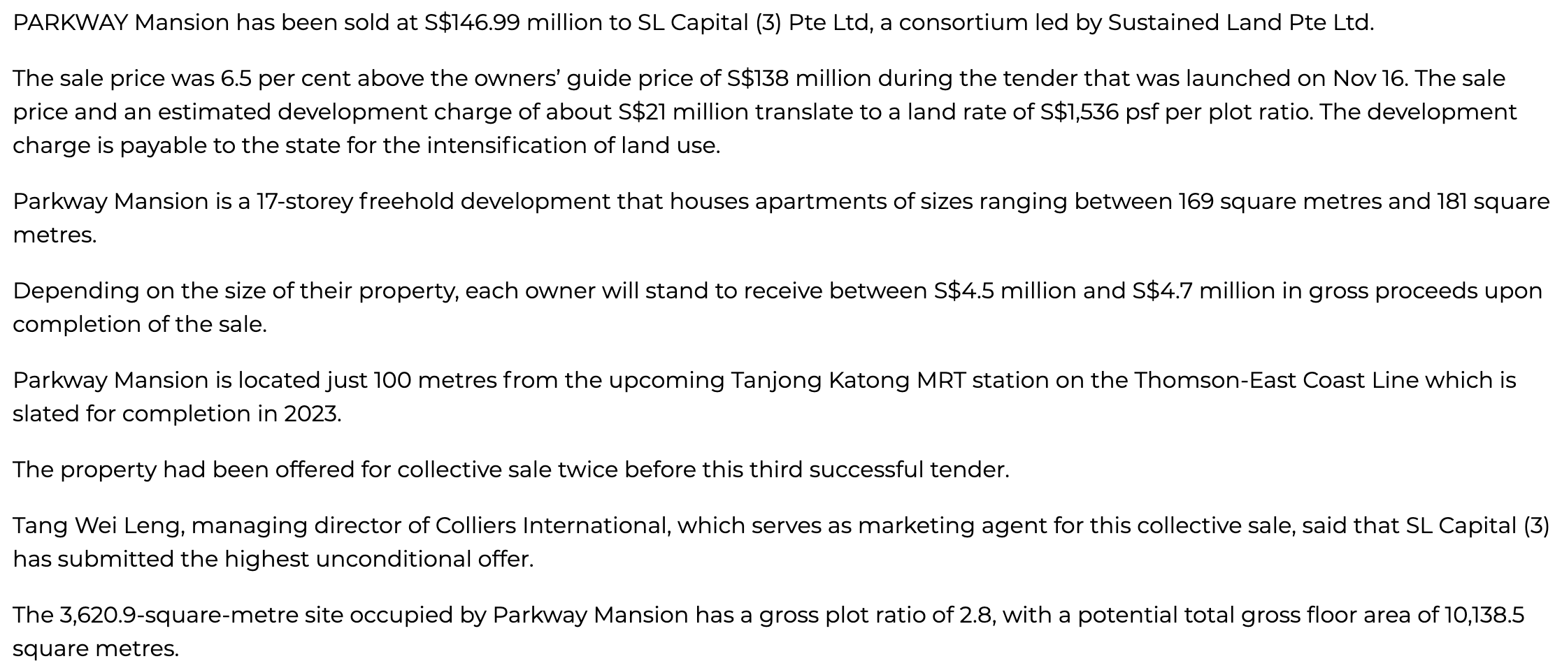 parkway-mansion-sold-to-sustained-land-led-consortium-at-S$146.99m